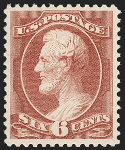 Sale Number 1217, Lot Number 973, 1870-88 Bank Note Issues (Scott 134-218)6c Deep Brown Red (208a), 6c Deep Brown Red (208a)