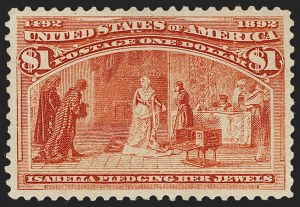 Sale Number 1217, Lot Number 992A, 1893 Columbian Issue (Scott 230-245)$1.00 Columbian (241), $1.00 Columbian (241)