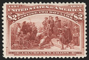 Sale Number 1217, Lot Number 993, 1893 Columbian Issue (Scott 230-245)$2.00 Columbian (242), $2.00 Columbian (242)