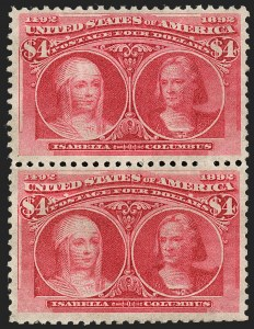 Sale Number 1217, Lot Number 995, 1893 Columbian Issue (Scott 230-245)$3.00-$4.00 Columbian (243-244), $3.00-$4.00 Columbian (243-244)