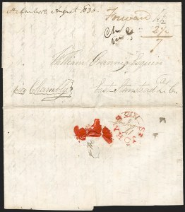 Sale Number 1218, Lot Number 2109, Other Canadian Town Markings (by Town)Manuscript St. Charles postmark on cover written in St, Manuscript St. Charles postmark on cover written in St
