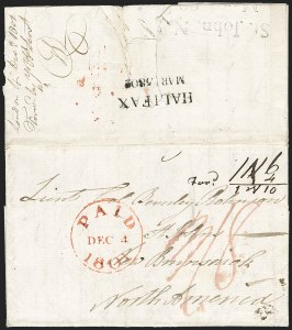 Sale Number 1218, Lot Number 2156, Mail to and from Other Countries Amazing incoming folded letter to St, Amazing incoming folded letter to St