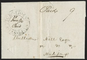 "Sale Number 1218, Lot Number 2226, Nova Scotia ""Post Office"" Double-Circles,"