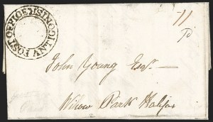 "Sale Number 1218, Lot Number 2227, Nova Scotia ""Post Office"" Double-Circles,"