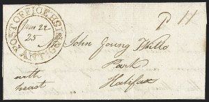 "Sale Number 1218, Lot Number 2228, Nova Scotia ""Post Office"" Double-Circles,"