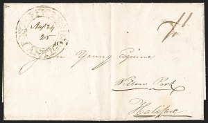 "Sale Number 1218, Lot Number 2229, Nova Scotia ""Post Office"" Double-Circles,"