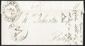 "Sale Number 1218, Lot Number 2230, Nova Scotia ""Post Office"" Double-Circles,"