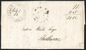 "Sale Number 1218, Lot Number 2231, Nova Scotia ""Post Office"" Double-Circles,"