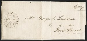 "Sale Number 1218, Lot Number 2232, Nova Scotia ""Post Office"" Double-Circles,"