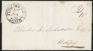 "Sale Number 1218, Lot Number 2233, Nova Scotia ""Post Office"" Double-Circles,"