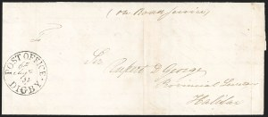 "Sale Number 1218, Lot Number 2234, Nova Scotia ""Post Office"" Double-Circles,"