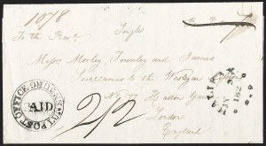"Sale Number 1218, Lot Number 2237, Nova Scotia ""Post Office"" Double-Circles,"