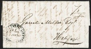 "Sale Number 1218, Lot Number 2238, Nova Scotia ""Post Office"" Double-Circles,"