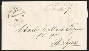 "Sale Number 1218, Lot Number 2239, Nova Scotia ""Post Office"" Double-Circles,"