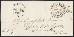 "Sale Number 1218, Lot Number 2241, Nova Scotia ""Post Office"" Double-Circles,"