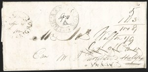 "Sale Number 1218, Lot Number 2242, Nova Scotia ""Post Office"" Double-Circles,"
