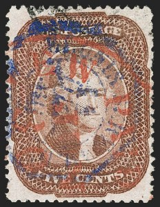 Sale Number 1219, Lot Number 113, 5c 1857-60 Issue (Scott 27-30A)5c Red Brown (28), 5c Red Brown (28)