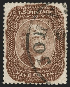 Sale Number 1219, Lot Number 116, 5c 1857-60 Issue (Scott 27-30A)5c Brown (29), 5c Brown (29)