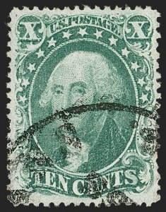 Sale Number 1219, Lot Number 125, 10c-12c 1857-60 Issue (Scott 31-36B)10c Green, Ty. IV (34), 10c Green, Ty. IV (34)