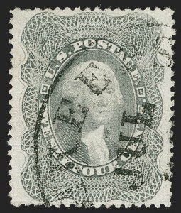 Sale Number 1219, Lot Number 135, 24c-90c 1860 Issue (Scott 37-39)24c Gray (37a), 24c Gray (37a)