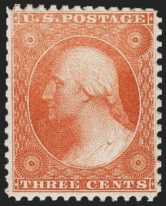 Sale Number 1219, Lot Number 140, 1875 Reprint of 1857-60 Issue (Scott 40-47)3c Scarlet, Reprint (41), 3c Scarlet, Reprint (41)