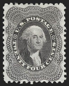 Sale Number 1219, Lot Number 144, 1875 Reprint of 1857-60 Issue (Scott 40-47)24c Blackish Violet, Reprint (45), 24c Blackish Violet, Reprint (45)