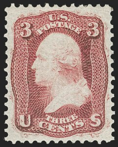 Sale Number 1219, Lot Number 148, 1861-66 Issue (Scott 56-63)3c Brown Rose, First Design (56), 3c Brown Rose, First Design (56)