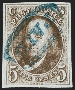 Sale Number 1219, Lot Number 17, 5c 1847 Issue (Scott 1)5c Red Brown (1), 5c Red Brown (1)