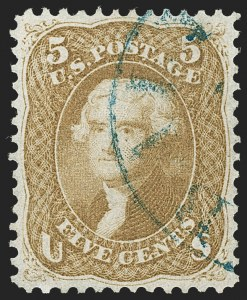 Sale Number 1219, Lot Number 179, 1861-66 Issue, cont. (Scott 67-70d)5c Buff (67), 5c Buff (67)
