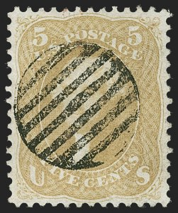 Sale Number 1219, Lot Number 181, 1861-66 Issue, cont. (Scott 67-70d)5c Olive Yellow (67b), 5c Olive Yellow (67b)