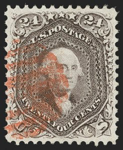 Sale Number 1219, Lot Number 189, 1861-66 Issue, cont. (Scott 67-70d)24c Red Lilac (70), 24c Red Lilac (70)