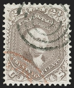 Sale Number 1219, Lot Number 191, 1861-66 Issue, cont. (Scott 67-70d)24c Brown Lilac (70a), 24c Brown Lilac (70a)