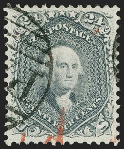 Sale Number 1219, Lot Number 192, 1861-66 Issue, cont. (Scott 67-70d)24c Steel Blue (70b), 24c Steel Blue (70b)