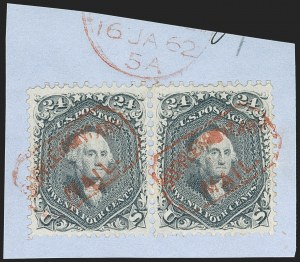 Sale Number 1219, Lot Number 193, 1861-66 Issue, cont. (Scott 67-70d)24c Steel Blue (70b), 24c Steel Blue (70b)