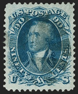 Sale Number 1219, Lot Number 201, 1861-66 Issue, cont. (Scott 71-74)90c Blue (72), 90c Blue (72)