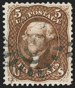 Sale Number 1219, Lot Number 216, 1861-66 Issue, cont. (Scott 75-78c)5c Red Brown (75), 5c Red Brown (75)