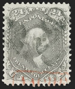 Sale Number 1219, Lot Number 225, 1861-66 Issue, cont. (Scott 75-78c)24c Grayish Lilac (78a), 24c Grayish Lilac (78a)