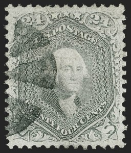 Sale Number 1219, Lot Number 227, 1861-66 Issue, cont. (Scott 75-78c)24c Gray (78b), 24c Gray (78b)