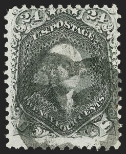 Sale Number 1219, Lot Number 228, 1861-66 Issue, cont. (Scott 75-78c)24c Blackish Violet (78c), 24c Blackish Violet (78c)