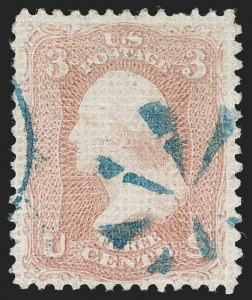 Sale Number 1219, Lot Number 229, 1867-68 Grilled Issue (Scott 79-101)3c Rose, A. Grill (79), 3c Rose, A. Grill (79)