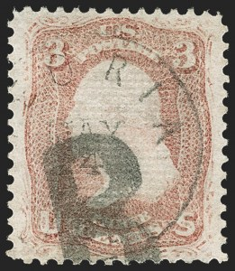 Sale Number 1219, Lot Number 234, 1867-68 Grilled Issue (Scott 79-101)3c Rose, Z. Grill (85C), 3c Rose, Z. Grill (85C)