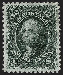 Sale Number 1219, Lot Number 235, 1867-68 Grilled Issue (Scott 79-101)12c Black, Z. Grill (85E), 12c Black, Z. Grill (85E)