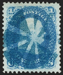 Sale Number 1219, Lot Number 236, 1867-68 Grilled Issue (Scott 79-101)1c Blue, E. Grill (86), 1c Blue, E. Grill (86)