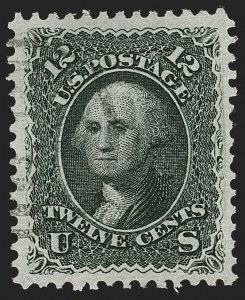 Sale Number 1219, Lot Number 243, 1867-68 Grilled Issue (Scott 79-101)12c Black, E. Grill (90), 12c Black, E. Grill (90)