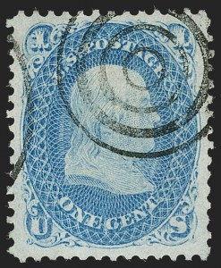 Sale Number 1219, Lot Number 246, 1867-68 Grilled Issue (Scott 79-101)1c Blue, F. Grill (92), 1c Blue, F. Grill (92)