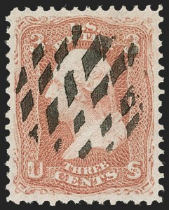 Sale Number 1219, Lot Number 249, 1867-68 Grilled Issue (Scott 79-101)3c Red, F. Grill (94), 3c Red, F. Grill (94)