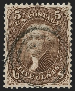 Sale Number 1219, Lot Number 250, 1867-68 Grilled Issue (Scott 79-101)5c Brown, F. Grill (95), 5c Brown, F. Grill (95)