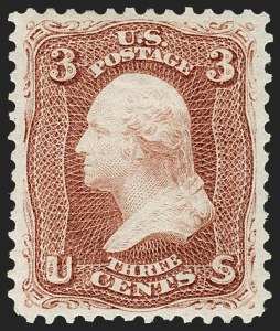 Sale Number 1219, Lot Number 260, 1875 Re-Issue of 1861-66 Issue (Scott 102-111)3c Brown Red, Re-Issue (104), 3c Brown Red, Re-Issue (104)