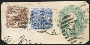 Sale Number 1219, Lot Number 322, 1875 Re-Issue of 1869 Pictorial Issue (Scott 123-133a)3c Blue, Re-Issue (125), 3c Blue, Re-Issue (125)