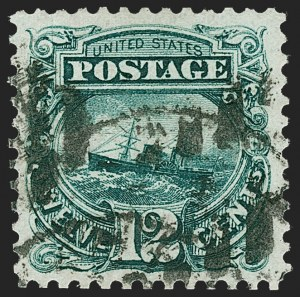 Sale Number 1219, Lot Number 325, 1875 Re-Issue of 1869 Pictorial Issue (Scott 123-133a)12c Green, Re-Issue (128), 12c Green, Re-Issue (128)